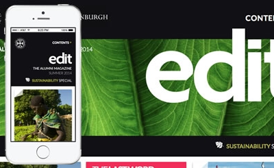 Taking the University of Edinburgh's alumni magazine to online audiences