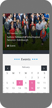 Entrepreneurial Scotland website on mobile screenshot