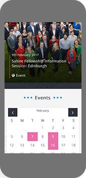 Entrepreneurial Scotland website on mobile screenshot