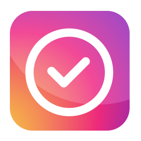 An app icon with an check