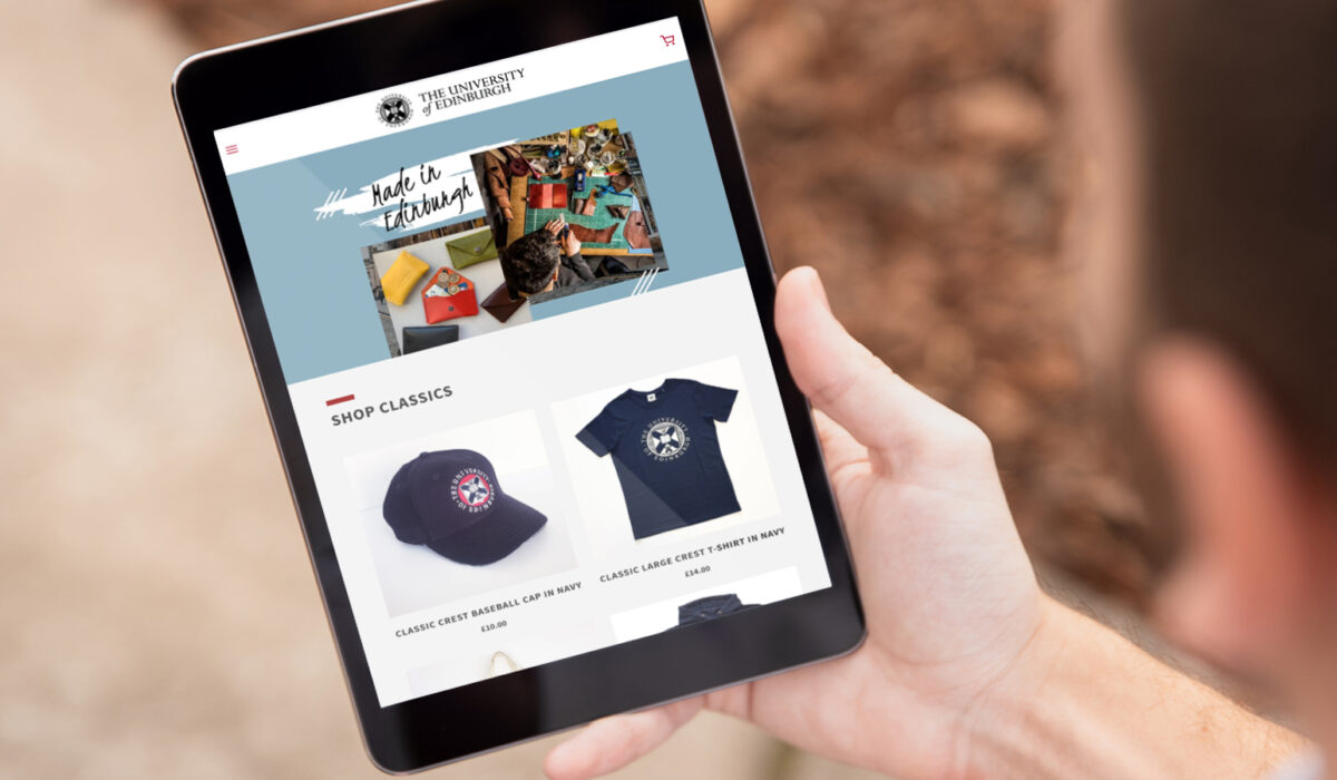 Shopify Tablet View