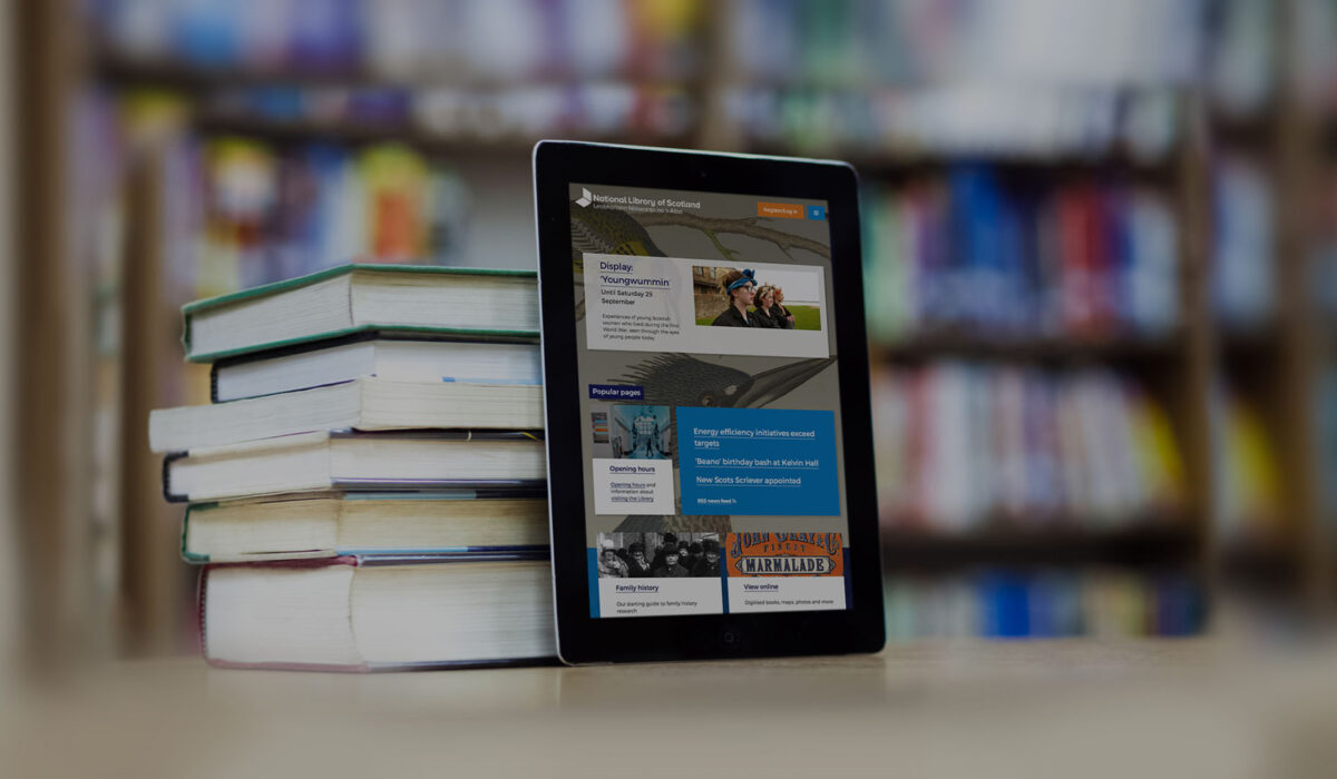 Library Website Design for Mobile