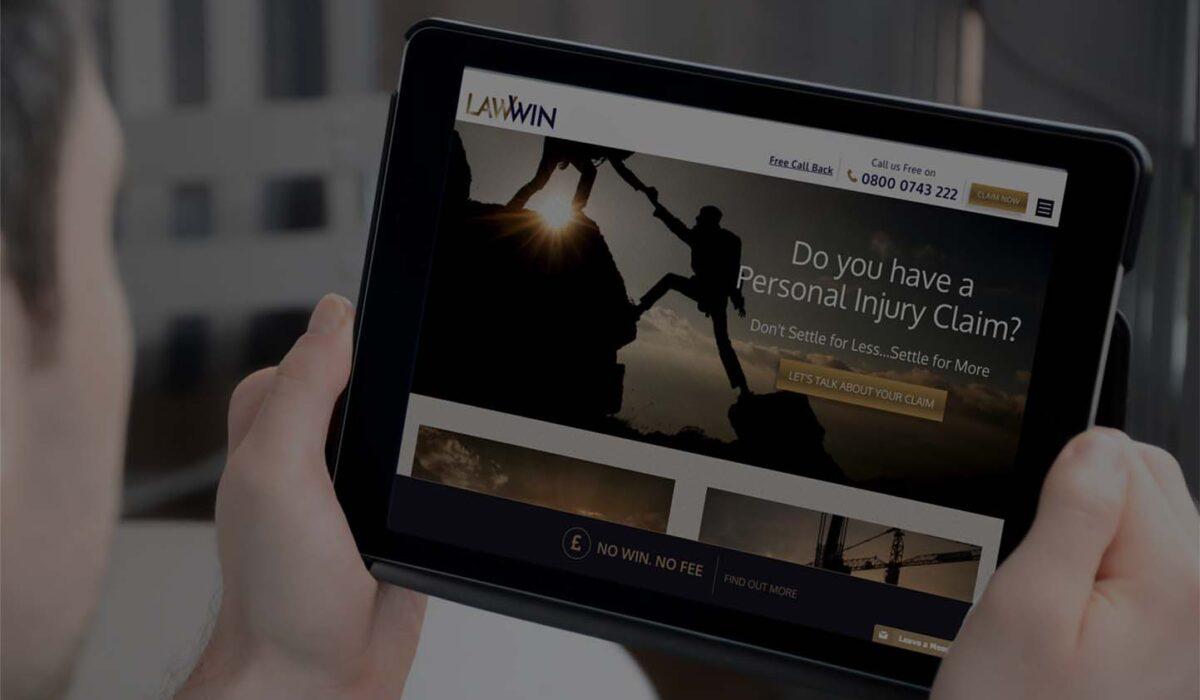 LawWin website design
